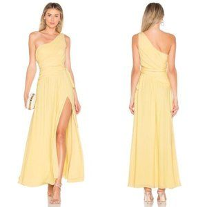 Lovers + Friends Titania Gown Cream Yellow XS NEW